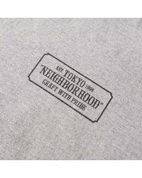 Neighborhood - Gray Bar & Shield Tee for Men - Lyst