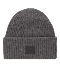 Acne | Gray Pansy L Face Beanie for Men | Lyst