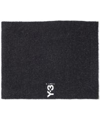 Y-3 - Black Badge Scarf for Men - Lyst