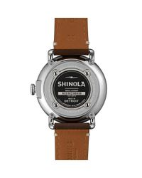 Shinola - Brown 41mm Runwell Mens Watch for Men - Lyst