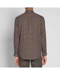 Portuguese Flannel - Brown Castanha Button Down Check Shirt for Men - Lyst