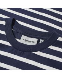 Carhartt WIP - Blue Manson Stripe Tee for Men - Lyst