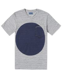 Blue Blue Japan - Gray Big Circle Print Tee for Men - Lyst