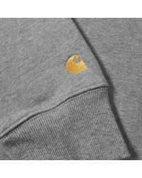 Carhartt WIP - Gray Carhartt Chase High Neck Sweat for Men - Lyst