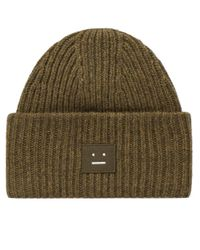 Acne | Green Pansy W Face Beanie for Men | Lyst
