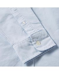 Lacoste - Blue Button Down Oxford Shirt for Men - Lyst