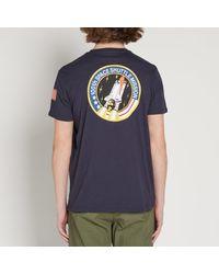 Alpha Industries - Blue Space Shuttle Tee for Men - Lyst