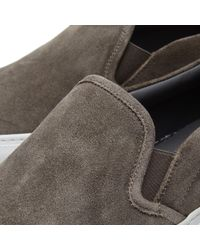 Common Projects - Gray Slip On Waxed Suede for Men - Lyst