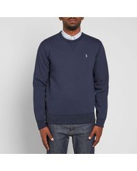 Polo Ralph Lauren - Blue Double Tech Crew Sweat for Men - Lyst