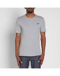 Nike | Gray Embroidered Futura Tee for Men | Lyst