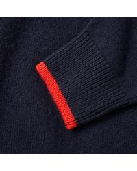 Maison Kitsuné - Blue Maison Kitsuné Lambswool Crew Knit for Men - Lyst
