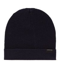 Canada Goose - Blue Waffle Slouch Beanie for Men - Lyst