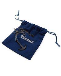 Miansai - Black Anchor Necklace for Men - Lyst