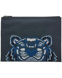 KENZO - Gray Tiger Pouch for Men - Lyst