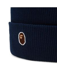 A Bathing Ape - Blue One Point Knit Cap for Men - Lyst