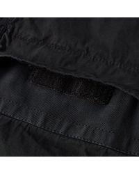 Stone Island - Black Tela Smerigliata Garment Dyed Popover Overshirt for Men - Lyst