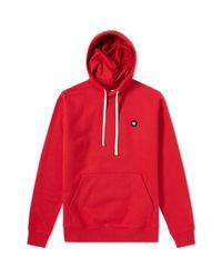 WOOD WOOD Red Ian Aa Logo Cotton Hoodie for men