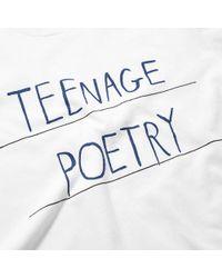 WOOD WOOD - White Poetry Tee for Men - Lyst