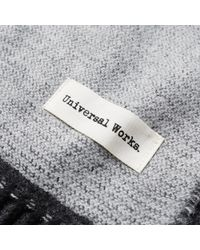 Universal Works - Gray Double Sided Scarf for Men - Lyst