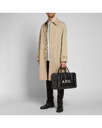 A.P.C. - Black Paul Logo Bag for Men - Lyst