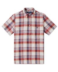 Polo Ralph Lauren - Red Button Down Popover Madras Shirt for Men - Lyst