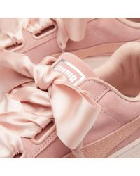 PUMA - Pink Suede Heart Pebble W - Lyst