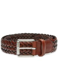 Andersons - Brown Anderson's Woven Leather Belt for Men - Lyst