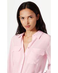 Equipment - Pink Slim Signature Silk Shirt - Lyst