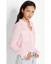Equipment | Pink Slim Signature Silk Shirt | Lyst