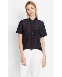 Equipment - Blue Betty Cotton Shirt - Lyst