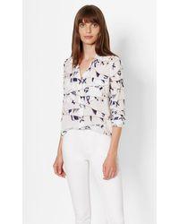 Equipment | White Slim Signature Silk Shirt | Lyst