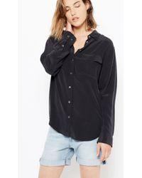Equipment | Black Signature Silk Shirt | Lyst