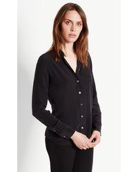 Equipment | Black Brett Slim Fit Silk Shirt | Lyst