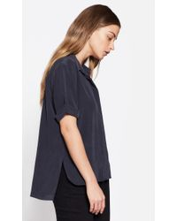 Equipment - Blue Paulette Silk Shirt - Lyst