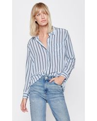 Equipment - Blue Daddy Silk Shirt - Lyst