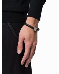Alexander McQueen - Black Skull Detail Bracelet for Men - Lyst