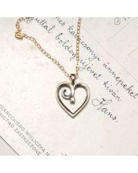 Erica Weiner | Metallic 1990s Heart With Teeny Diamond Pendant | Lyst