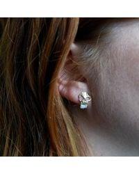 Erica Weiner | Brown Skull Earrings With Opal Teeth | Lyst