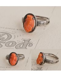 Erica Weiner - Metallic Eastern European Silver Ring With Coral Cameo - Lyst