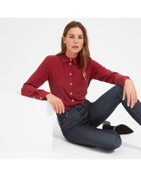 Everlane - Red The Piped Silk Pocket Shirt - Lyst
