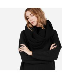 Everlane - Black The Chunky Wool Infinity Scarf - Lyst