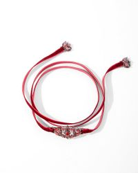 Express - Red Noir Frostbite Choker Necklace - Lyst