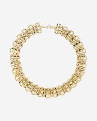 Express | Metallic Flat Status Link Collar Necklace | Lyst