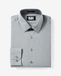Express | Gray Modern Fit Iridescent 1mx Shirt for Men | Lyst