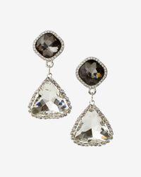 Express - Multicolor Triangle Drop Earrings - Lyst