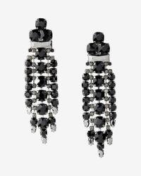 Express | Black Drop Earrings | Lyst