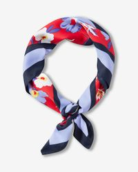 Express | Red Ditsy Floral Print Square Neckerchief | Lyst