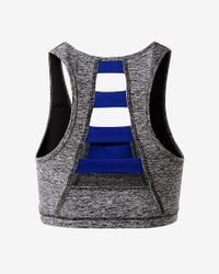 Express | Gray Exp Core Ladder Back Sports Bra | Lyst
