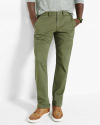 Express | Green Slim Fit Flex Stretch Olive Chino Pant for Men | Lyst