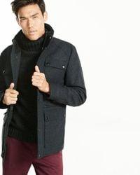 Express   Multicolor Wool Blend Four-pocket Military Coat for Men   Lyst